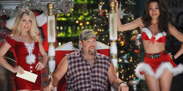 the already dubious wwe studios label delivers yet another belated movie sequel nobody really wanted in the first place as larry the cable guy steps into - Arnold Christmas Movie